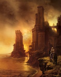 Greyjoy's castle, ASOIAF... by MarcSimonetti.deviantart.com