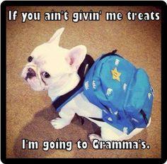 Funny Dog Humor French Bulldog Gonna Go To Gramma's Refrigerator Magnet