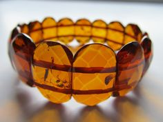 $85 Luxury Baltic Amber Bracelet Cognac Color by BalticAmberPalanga