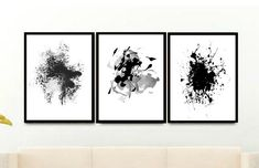 Wall Art Prints Triptych Abstract Art Prints Set of 3