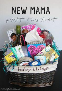 New Mama Gift Basket.