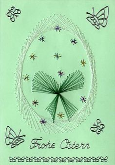 Fadengrafik Osterei Card Patterns, Stitching, Embroidery, Design, Paper Embroidery, Cards, Stars, To Draw, Costura