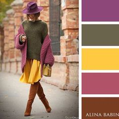 The Truly Classy and Bright Color Combination Ideas for Fashionable Fall Looks. Colour Combinations Fashion, Color Combinations For Clothes, Fashion Colours, Colorful Fashion, Colour Pallette, Colour Schemes, Color Trends, Color Combos, Color Patterns