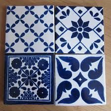pattern tiles - blue feature