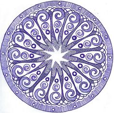 Zentangle...love this blue! Reminds me of the 'Blue Willow' plates I adore & collect!