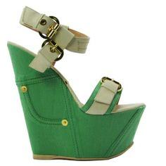 Green Wedge Heels | Tsaa Heel