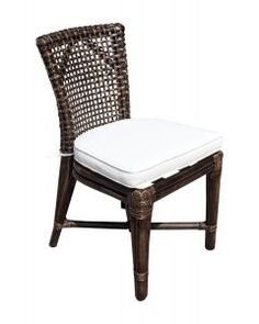 Panama Jack St Croix Side Chair with cushion
