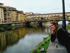 Me in front of colorful Ponte Vecchio