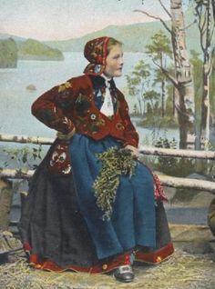 Folkdräkt Västergötland 1903