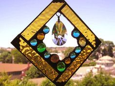 Stained Glass  Stained Glass Suncatcher  by CreativeSpiritGlass, $30.00