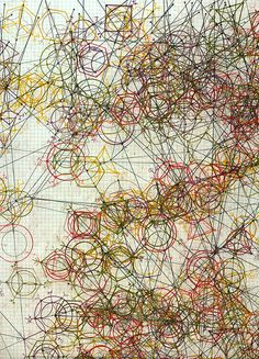 Kat Masback | dice virions [null variant] | using dice and coloured pencil to create generative art.