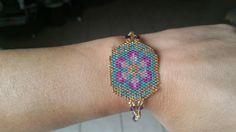flowery peyote bracelet