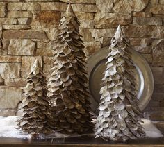 Furniture and Accessories. Amazing Glittered Winter Christmas Tree Replica Christmas Centerpieces. Lovely Joyful Xmas Centerpieces and Decor...
