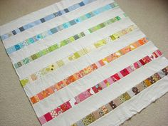 Baby Girl Seamless Pattern Instructions for making your own baby quilts - adorable nursery accents! Links to many quilts! baby quilt great q. Patchwork Quilt, Scrappy Quilts, Easy Quilts, Quilt Top, Crib Quilts, Striped Quilt, Quilt Baby, Sampler Quilts, Quilting Tutorials