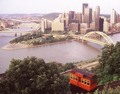 Pittsburgh, PA -- When I was a kid, Ioved riding the incline. It looks like the trolley in Mr. Rogers, and you can see the whole city.