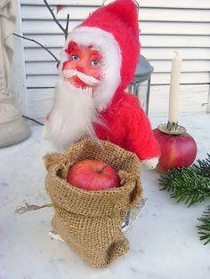 Vintage Weihnachtsdeko - süßer vintage Weihnachtsmann / Nikolaus Candybox - ein Designerstück von artdecoundso bei DaWanda