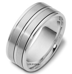 10K WHITE GOLD MENS  WEDDING BAND RING  8MM  #LTBJEWELRY