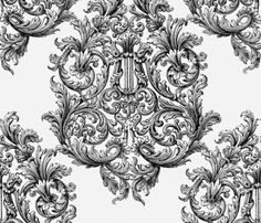 Cissie Villa Damask fabric by peacoquettedesigns on Spoonflower - custom fabric
