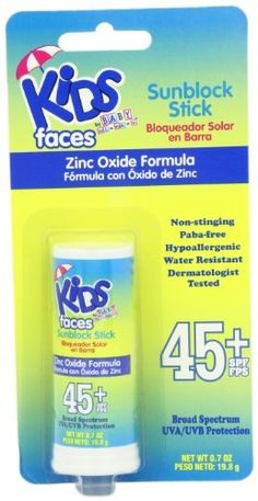 Baby Blanket Sunscreen Stick, SPF 45, 0.7 Ounce Stick (Pack of 4) by Kids by Baby Blanket. Save 10 Off!. $17.96. Dermatologist tested. Pack of four, 0.7-ounce (total of 2.8-ounces). Non stinging. Kids by Baby Blanket Faces Sunscreen Stick, SPF 45, 0.7 Ounce Stick
