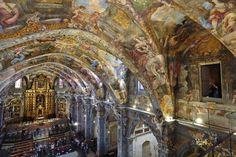 Imágenes de las pinturas murales de las bóveda de San Nicolás de Valencia
