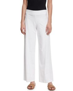 TBGV3 Joseph Sirius Stretch Wide-Leg Pants, Black | mascara and ...