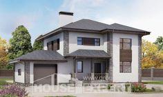185-004-L dubleks ev projesi garajlı, çağdaş blok villa, İstanbul
