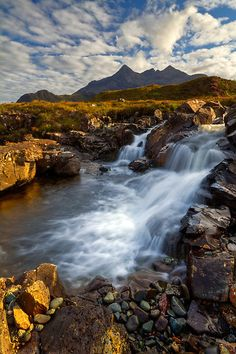 Sligachan Waterfall / Isle of Skye / Scotland. /sigh.