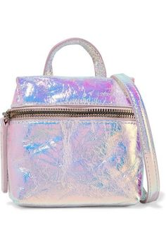 Holographic crinkled-leather (Cow) Zip fastening along front Comes with dust bag Weighs approximately 0.7lbs/ 0.3kg