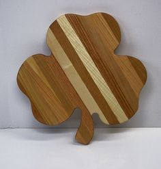 Big Shamrock Cutting Board  Handcrafted from Mixed by tomroche