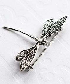 Look what I found on #zulily! Sterling Silver Dragonfly Brooch #zulilyfinds