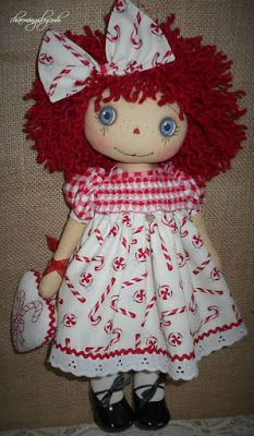 Candy Cane Annie with smocking  ~ charmingsbycmh