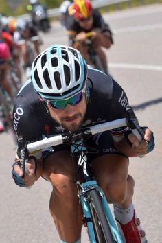 Vuelta 2014 Stage 9 Tom Boonen gets right overt his bars Photo credit © Tim de Waele/TDW Sport