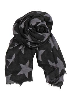 Becksondergaard X Supersize Nova Star Silk Blend Scarf in Black - I love!