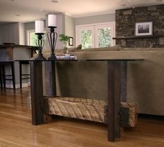 Furniture line made from repurposed rail supplies.  Modern & casual.