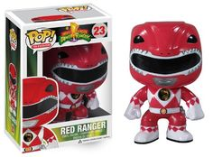 Funko POP Television: Power Rangers Red Vinyl Figure http://popvinyl.net #funko #funkopop #popvinyl