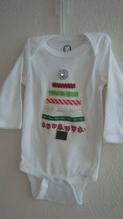 DIY Christmas tree onesie - what a lovely idea