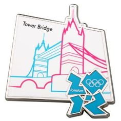 Price: $11.00 - Official London 2012 Olympic Pin Badge - Tower Bridge - TO ORDER, CLICK THE PHOTO