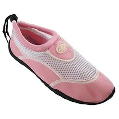 Rockin Footwear Womens Aqua Stripes Aqua Socks Water Shoes 5 ** Check out this great product.(This is an Amazon affiliate link)