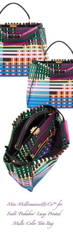 Fendi 'Peekaboo' Large Multi-Color Printed Tote Bag | House of Beccaria~