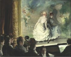 Everett Shinn (1876 – 1953) A French Music Hall, 1906 Oil on canvas Dimensions: 24 x 29 1/2 in. (61 x 74.9 cm) Framed: 34 × 40 × 4 in. Crystal Bridges Museum of American Art, Bentonville, Arkansas, 2010.90