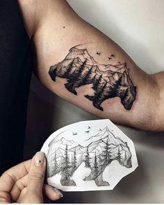 Montañas y oso