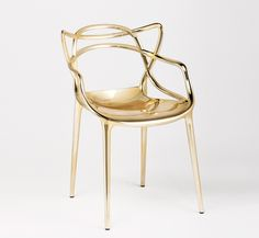 Kartell Gold Masters Chair by Philippe Starck Salone Del Mobile 2014