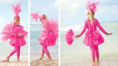 Disfraz de flamenco para niña