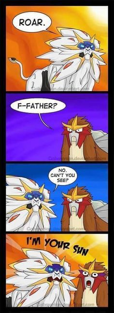 Pokemon fancomic - Solgaleo and Entei distant relatives?