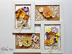 Quilled flowers/wall hanging