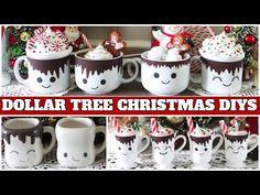 Diy Christmas Mugs, Christmas Presents For Girls, Dollar Tree Christmas, Christmas Projects, Holiday Crafts, Holiday Fun, Christmas Ideas, Diy Christmas Baskets, Christmas Picks
