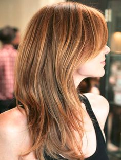 All Time Best Dark Strawberry Blonde Hairstyles for Women with Bangs for A Fascinating Look