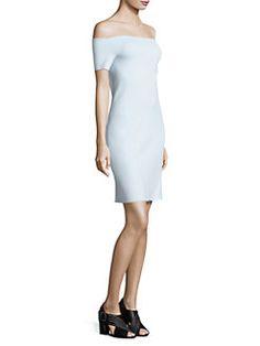 Helmut Lang - Scuba Off-the-Shoulder Dress