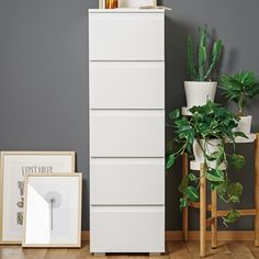Furniture In Fashion Hilary Contemporary Wooden Tall Chest Of Drawers In White Chest Of Drawers Decor, Narrow Chest Of Drawers, Tall Drawers, Ikea Alex Drawers, Wooden Drawers, Wooden Chest, White Bedroom Furniture, Funky Furniture, Furniture Design