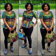 Beaded Ankara Styles : Latest Ankara Styles in Town.Beaded Ankara Styles : Latest Ankara Styles in Town African Wear Dresses, African Fashion Ankara, Ghanaian Fashion, African Attire, Ankara Blouse, Ankara Tops, Peplum Blouse, African Tops, African Women
